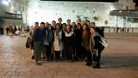 Campus Leaders at Western Wall